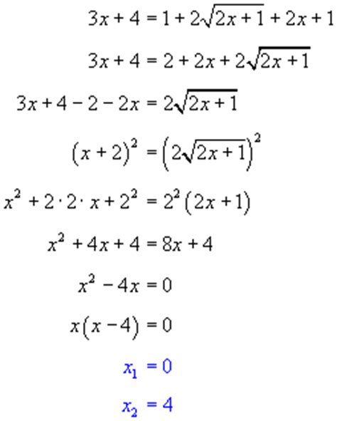 Solving Equations With Radicals  Free Math Help