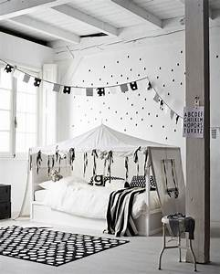 Ikea Kinderzimmer Bett : ikea kura bett umgestalten schwarz weiss zelt ~ Michelbontemps.com Haus und Dekorationen