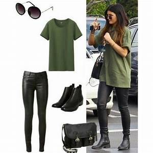 Kylie jenner khaki outfit shoes t-shirt top bag shirt pants - Wheretoget