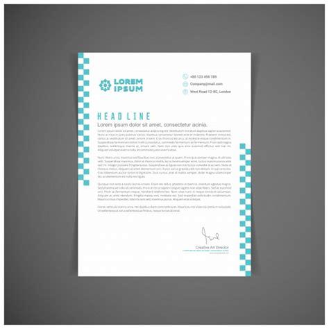 blue letterhead template vector