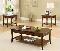 oak accent tables Lincoln Park Transitional Dark Oak Accent Tables with ...