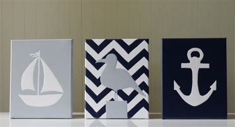 12.5' wide x 19' tall, wood anchor is trimmed with rope. Joanita Bonita: Nautical Nursery Decor, Navy Blue and Gray, Navy Blue Chevron Stripes, Sailboat ...