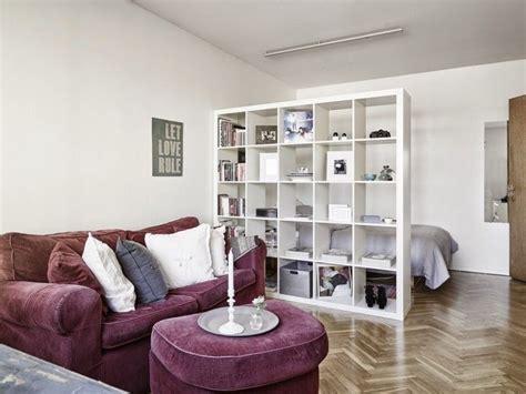 Raumteiler Regal Ikea by Raumteiler In Der Einzimmerwohnung Mit Ikea Regal Alex