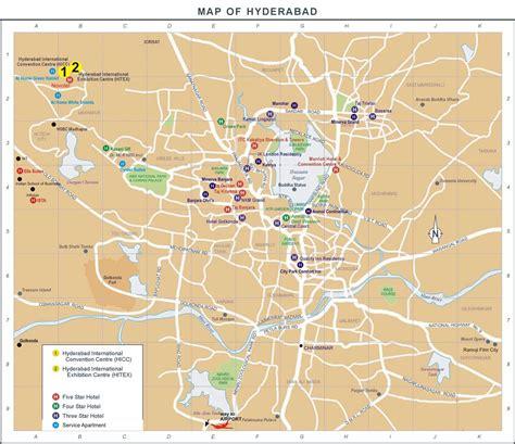 hyderabad hotel map hyderabad mappery