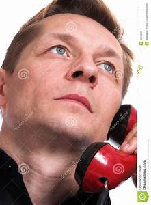 The Serious Person Negotiates By Phone Stock Photography ...