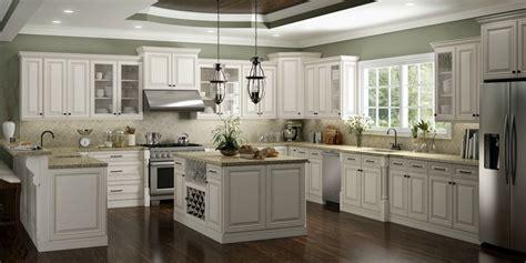 antique white shaker kitchen cabinets cambridge antique white glaze ready to assemble kitchen 7494