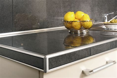 table cuisine ceramique schluter rondec ct for countertops profiles schluter com