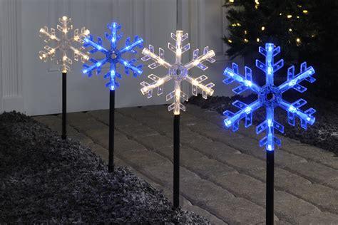christmas solar walkway lights light up the holidays seasonal home lighting tips from ge