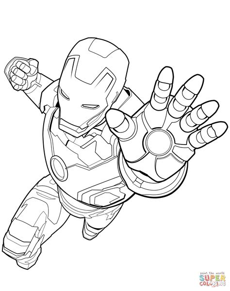 avengers iron man coloring page  printable coloring
