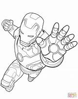Coloring Avengers Iron Pages Printable Drawing Dot Paper sketch template