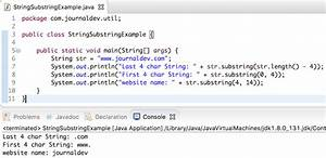 java substring example java string substring journaldev With java string template