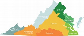StayVA's Regional Map of Virginia Bed and Breakfast Inns