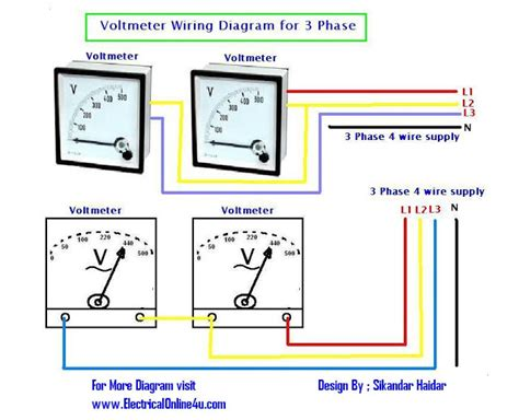 How Wire Voltmeters For Phase Voltage Measuring