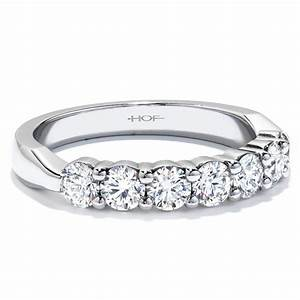 Nagi bridal hearts on fire 7 stone diamond wedding for Solitaire ring with diamond wedding band