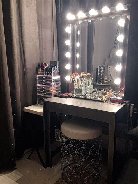 glam diy light  vanity mirror projects diy vanity
