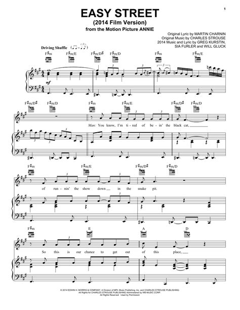 Magialien + songbirdsecretmagialien + songbirdsecret. Easy Street (from 'Annie' 2014 Film Version) piano sheet ...