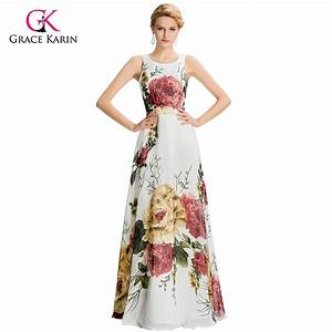 popular floral evening gowns buy cheap floral evening With shein robe de soirée
