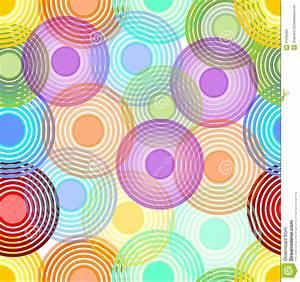 Des Couleurs Pastel : fond sans couture abstrait avec les cercles concentriques dans des couleurs en pastel d 39 arc en ~ Voncanada.com Idées de Décoration