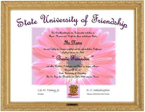 kreatives geschenk für beste freundin geschenk idee quot die beste freundin quot diplom ebay