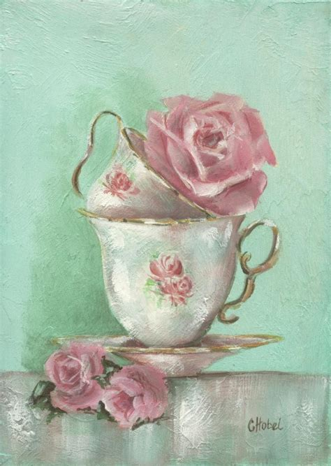 shabby chic paintings romantic country and rose paintings