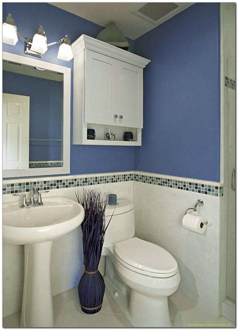 simple bathroom ideas for small bathrooms simple blue and white bathroom decor for small space 41