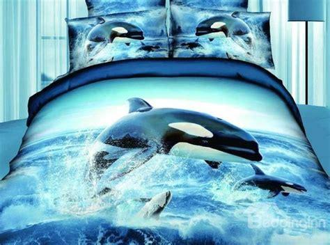 new arrival top class ocean star jumping dolphin print 4
