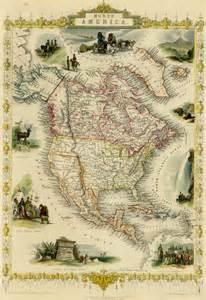 1851 North America Map