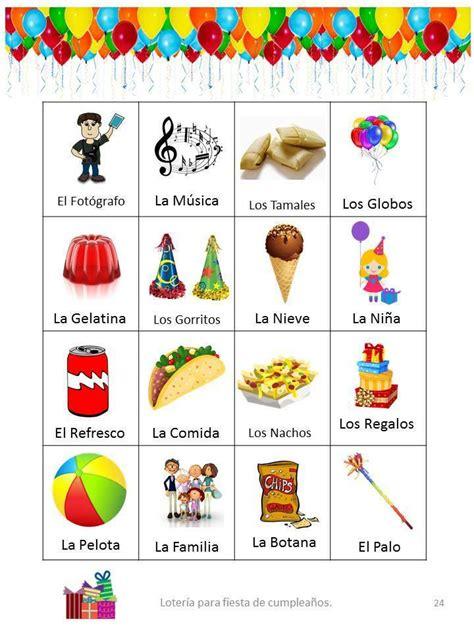 loteria bingo para fiestas de cumplea 241 os 25 tablas para imprimir en casa pdf ebay