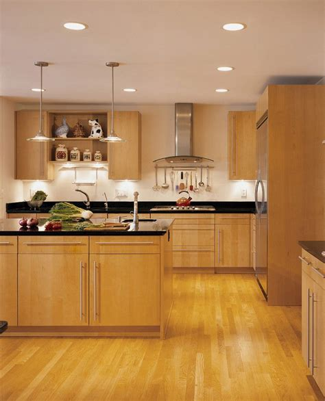 kitchen ideas with maple cabinets maple cabinets with black granite countertops contemporary 8125