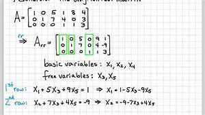 Linear Algebra Example Problems - General Solution of ...