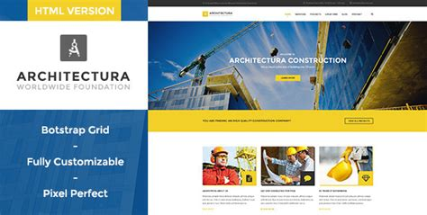 Simple Construction Html Template by 50 Best Architecture Construction Html Website Templates 2018