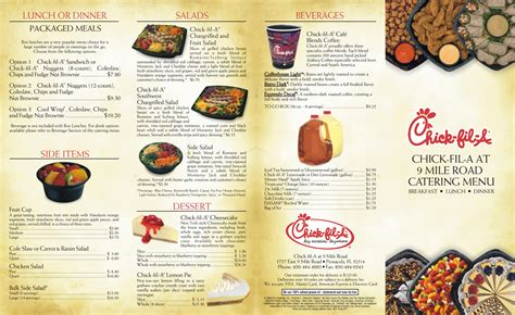 5 Best Images of Printable Chick-fil A Menu - Printable ...