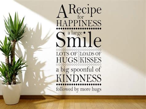 wall art sticker  recipe  happiness wall quote vinyl