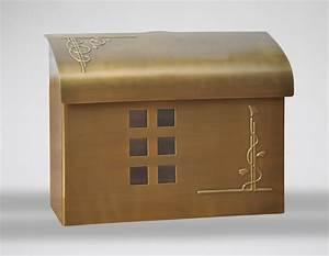 Ecco Mailboxes | E7 Wall Mount Mailbox - Satin Brass ...