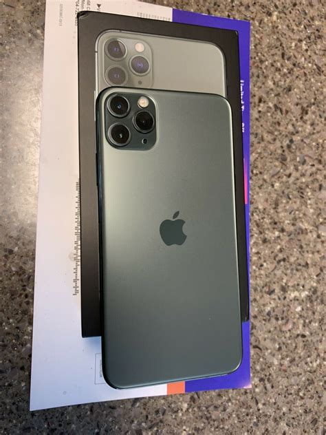apple iphone pro max gb midnight green
