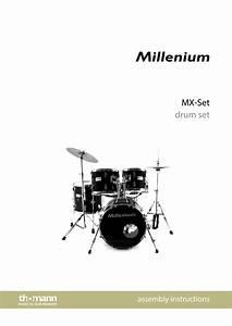 Mil U00adlenium Mx420 Studio Set Bl Complete Drum Kit Assembly