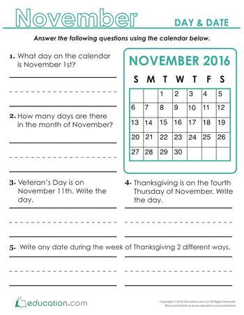 day date grade calendar worksheets educationcom egitim