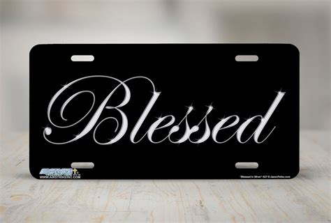 Decorative Front License Plate - blessed front plate christian decorative license plate car