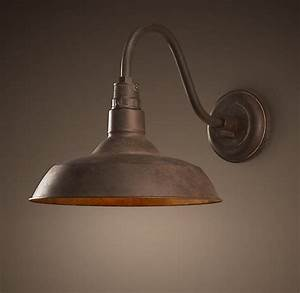 Vintage barn sconce weathered rust client cs