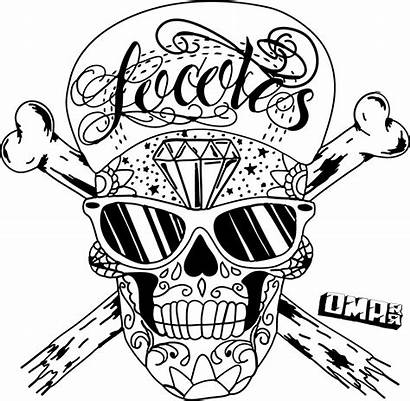 Skull Drawings Clipart Coloring Pages Easy Sugar