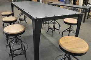 Table Bar But : simple metal table vintage industrial furniture ~ Teatrodelosmanantiales.com Idées de Décoration