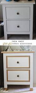 Ikea Hemnes Hack : ikea hack gilded gold hemnes nightstands diy picklee ~ Indierocktalk.com Haus und Dekorationen