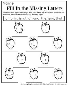 sight words worksheets fill in the missing letters fall