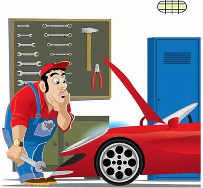 Mechanic Repair Clip Clipart Automotive Cartoon Library