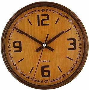 Horloge Murale Bois : horloge r tro murale coloris bois clair ~ Teatrodelosmanantiales.com Idées de Décoration