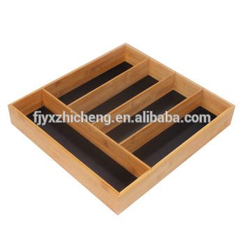 tray organizer for kitchen 5 slot bamboo drawer organizer large size kitchen drawer 6364