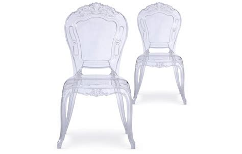 chaise baroque transparente chaise transparente style baroque lot de 2