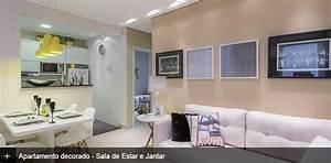 Decoração Completa de Apartamento pequeno de 43m ² Com