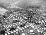 An aerial view of Sinclair Oil Refinery. Location: Houston ...