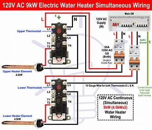 How To Wire 120v Simultaneous Water Heater Thermostat